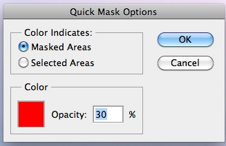 Quick Mask Mode Options