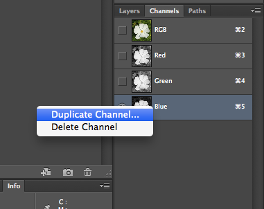 how to make selections in photoshop using channels