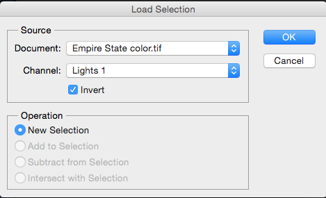 Load inverted selection