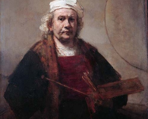Self Portrait with two circles,  by Rembrandt
