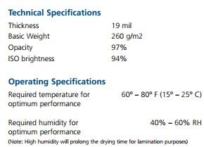 Epson Velvet Technical Fact Sheet