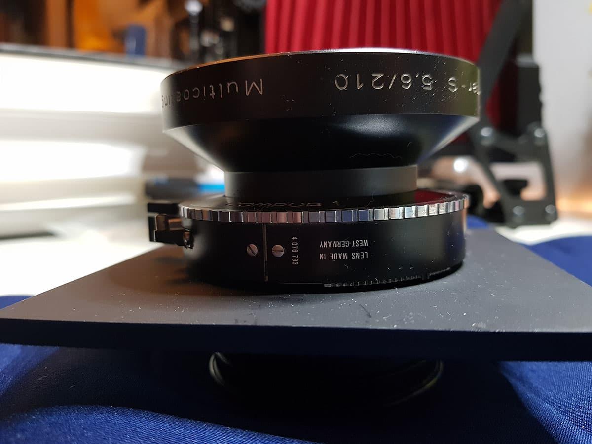 Large Format 210 mm schneider lens