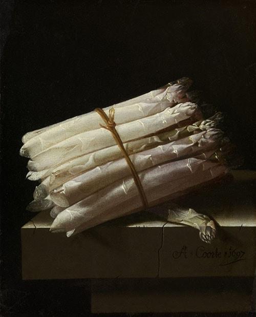 Adriaen Coorte – Still Life with Asparagus (1697)