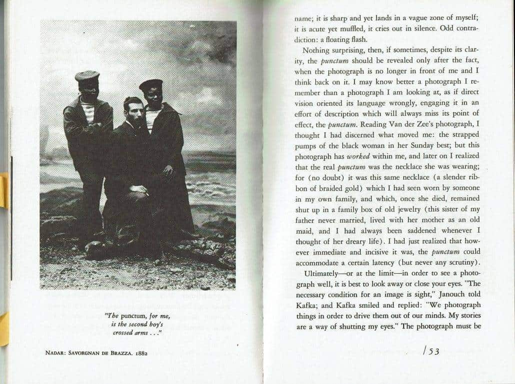 Camera Lucida by Roland Barthes Page 53 Sample