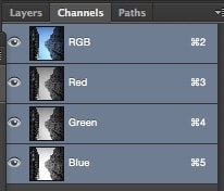 channels menu in photoshop