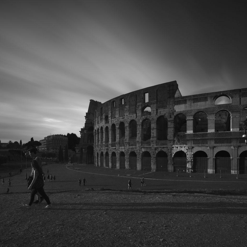 Colosseum Rome Black and White