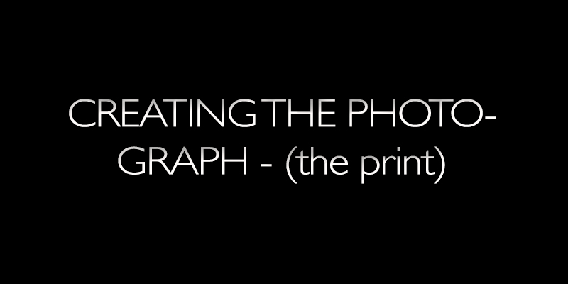 creating the photograph