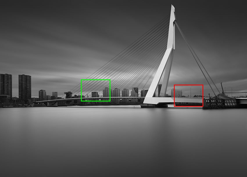 Erasmus Bridge Long Exposure with Phase One