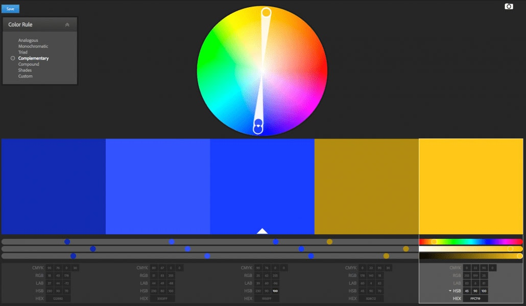 Example of workflow for split toning