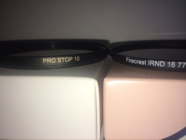 Pro stop 10 filters vs firecrest irnd filters