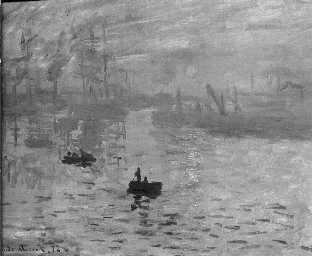 Impression sunrise monet bw
