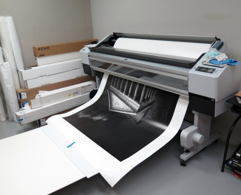 (C) Rotella Gallery – Joel Tjintjelaar's fine art print coming out of the Epson 11880 large format fine art printer