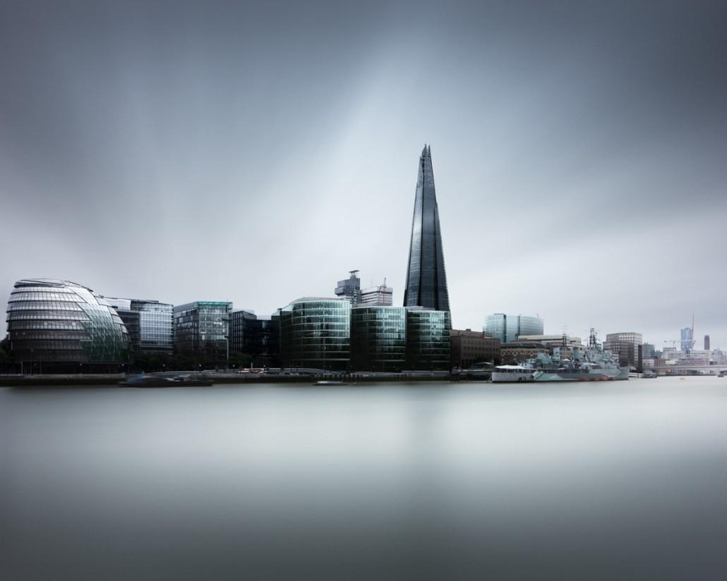 London skyline with the Shard (c) Joel Tjintjelaar
