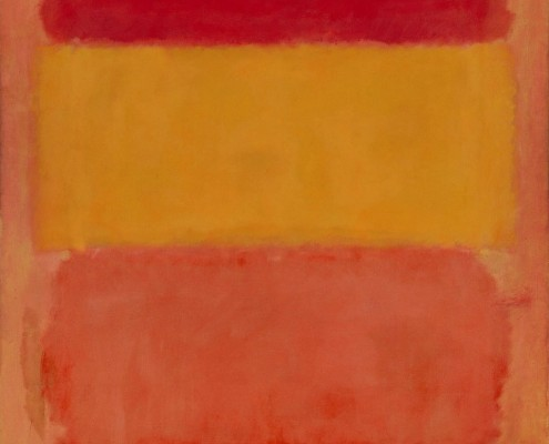 Red, Orange and Yellow By Mark Rothko