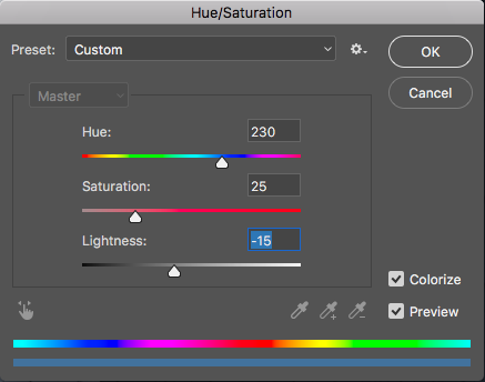 Hue Saturation Mid Tones Area