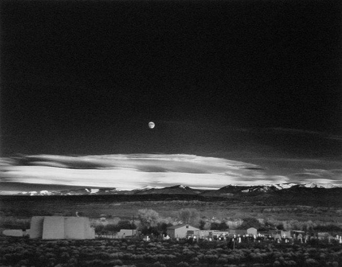 Moonrise Hernandez by Ansel Adams