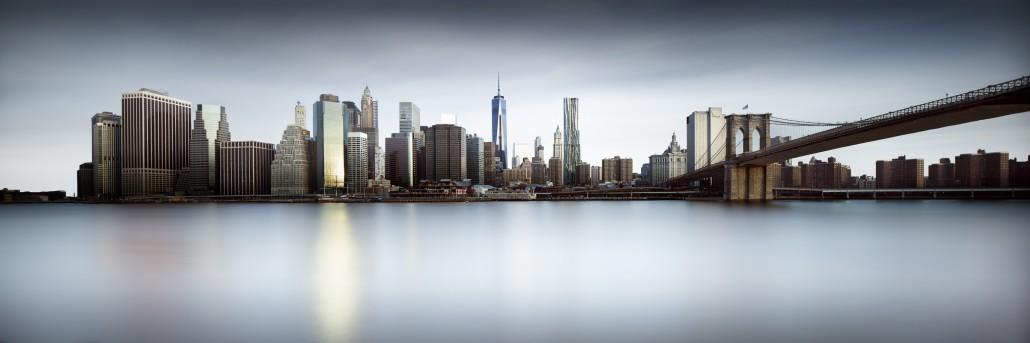 NYC Skyline in color (c) Joel Tjintjelaar