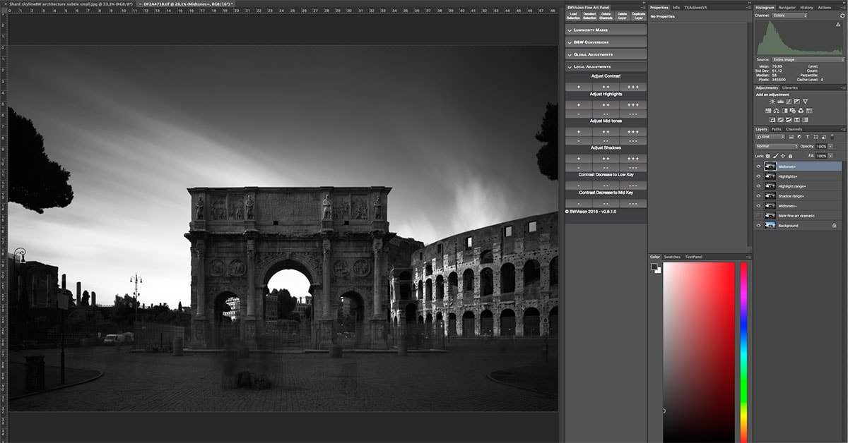 Colosseum rome black and white photography