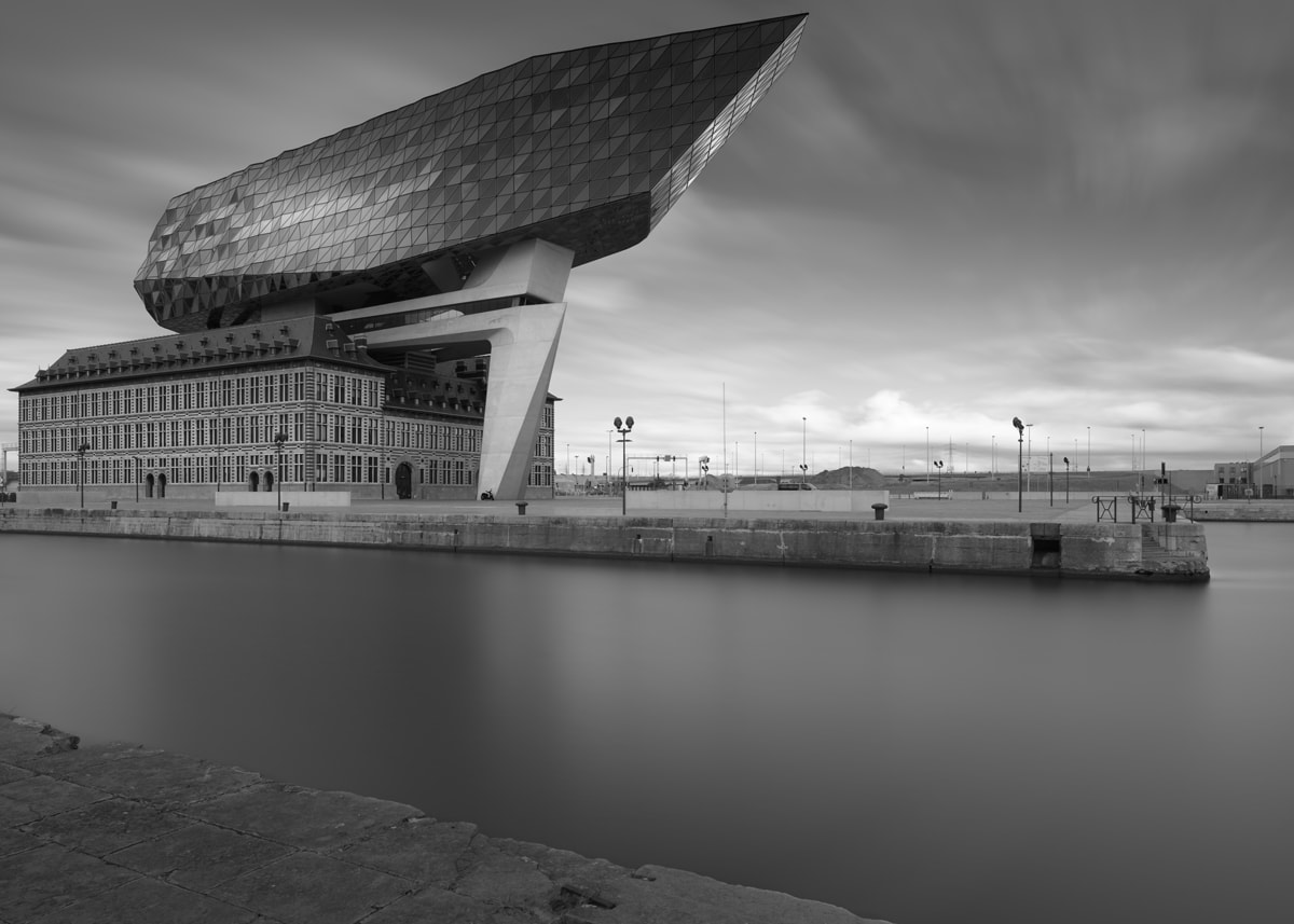 Porthouse in Antwerp by Joel Tjintjelaar