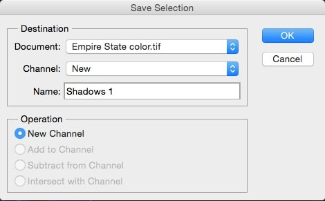 save selection shadows 1