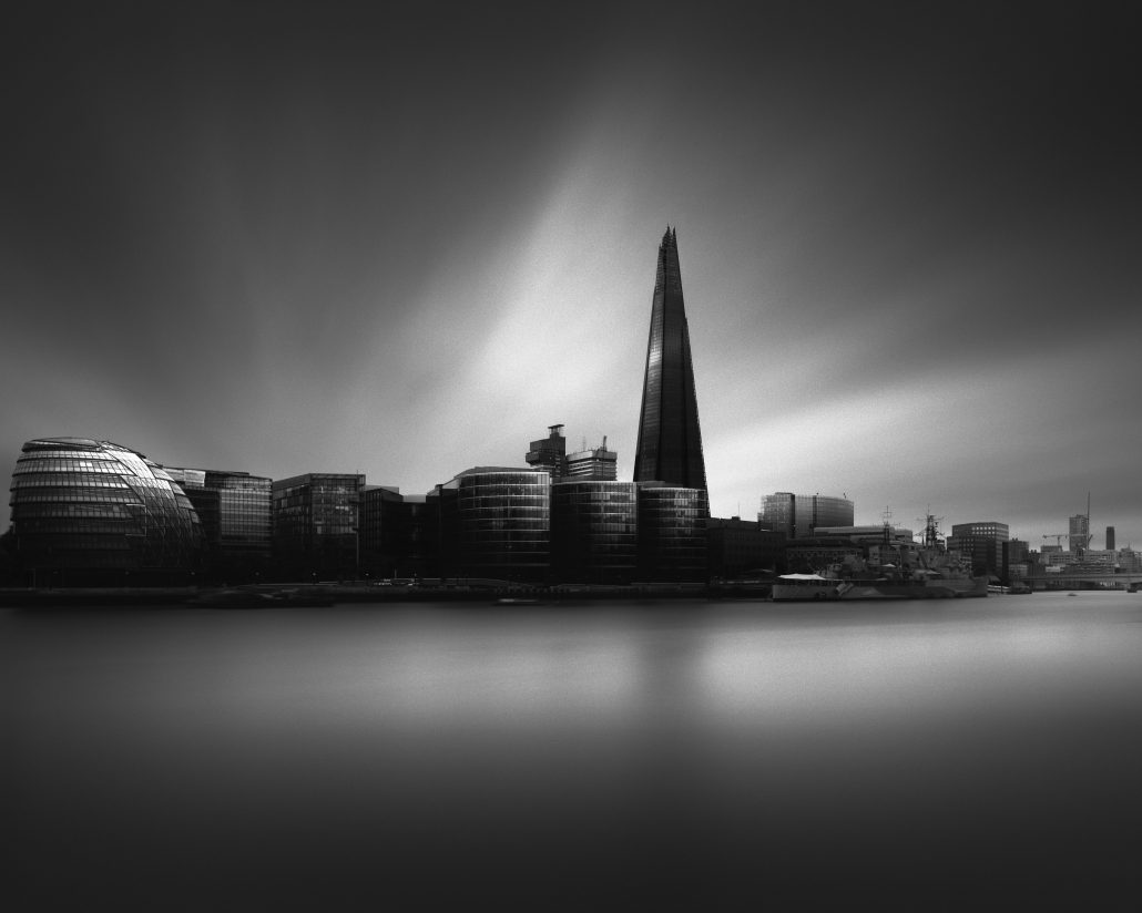 The Shard London Black and White long exposure