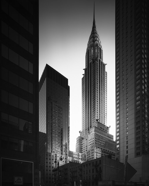 Long Exposure of the chrysler building, new york city