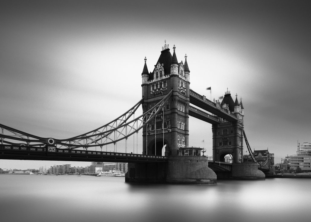 tower bridge london black and white long exposure photography