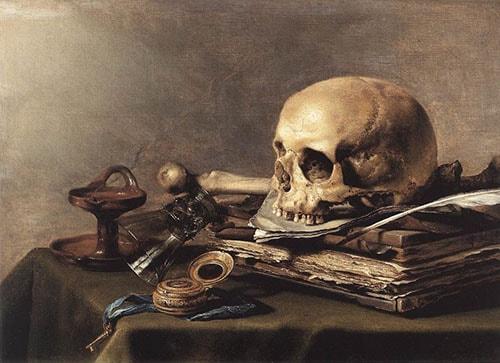 Pieter Claesz Vanitas Still Life Painting