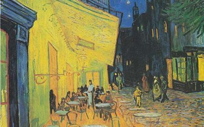 Vincent-van-Gogh-Cafe-Terras-At-Night-1888