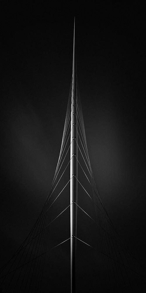 black and white long exposure of the calatrava bridge