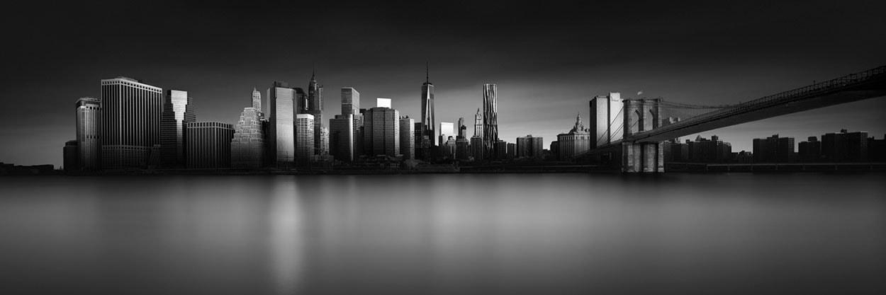 new york city black and white long exposure