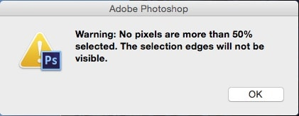 photoshop warning