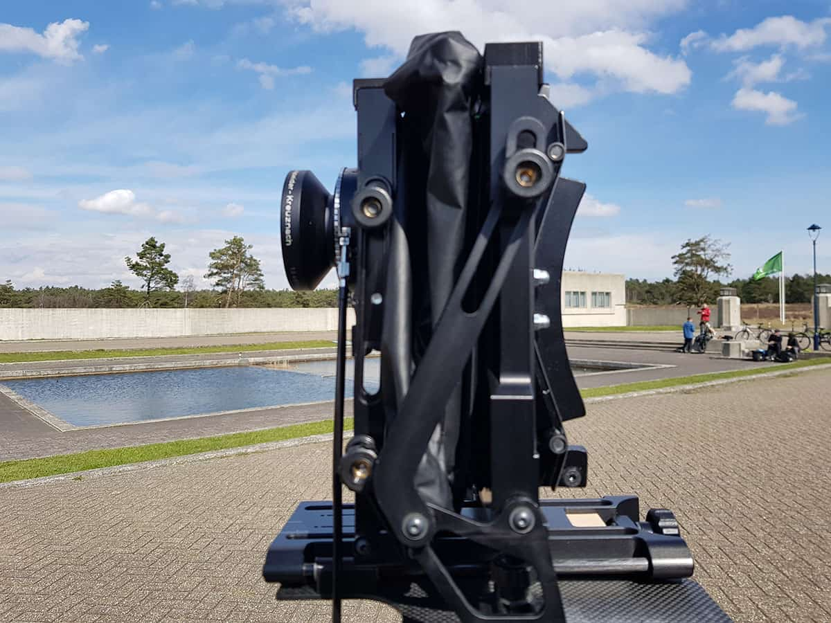 large format camera wide angle bellows