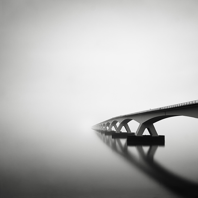 Zeeland Bridge Long Exposure in the fog