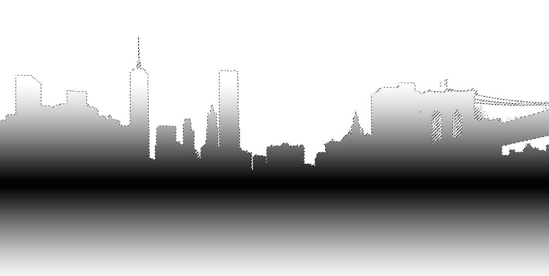 gradient mask of new york city sunrise