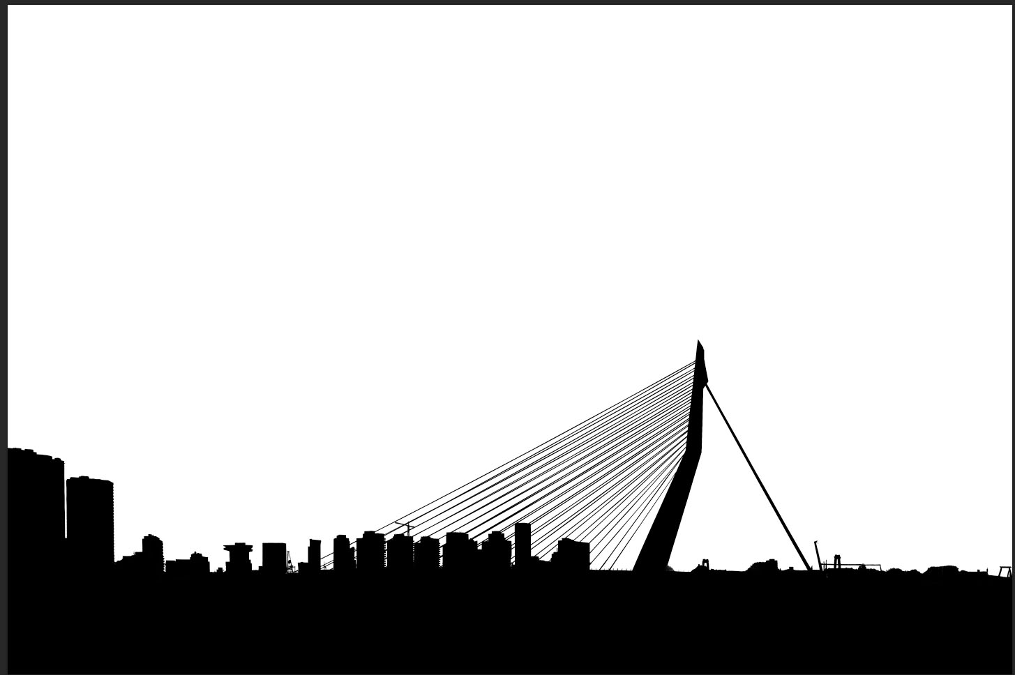 erasmus bridge selection viewed in channels photoshop